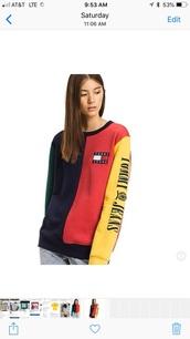 sweater,tommy hilfiger sweatshirt