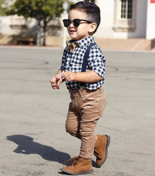 guys fashion swag kids fashion sunglasses plaid button up bowtie flannel corduroy pants suspenders