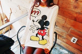 shirt cute sweater mickey mouse