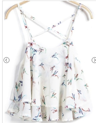 blouse top birds top birds shirt
