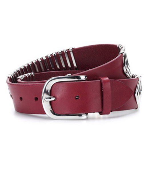Isabel Marant embellished belt leather red