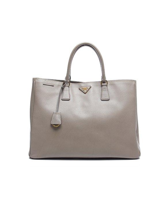 Owned prada grey saffiano lux tote bag