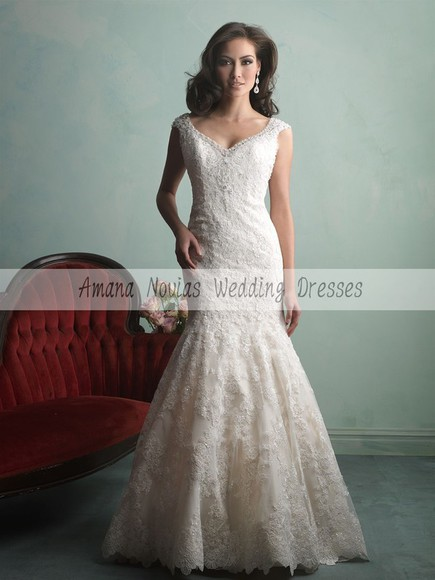 lace dress mermaid wedding dress