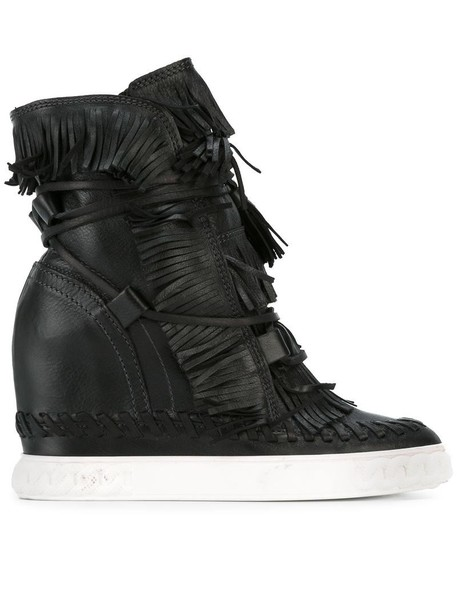CASADEI wedge boots women boots leather black shoes