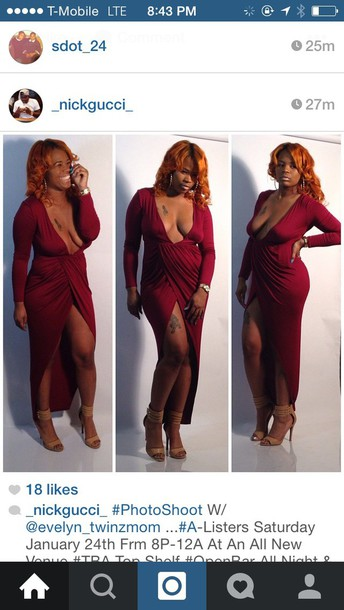 dress curvy burgundy