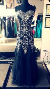 dress,black sparkly rhinestone mermaid prom dress,sweet,black dress,embellished,sequin dress,mermaid prom dress,prom dress,black and silver dress,black prom dress,prom gown,gown,glitter dress