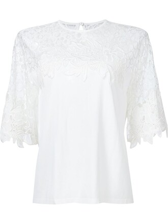 top knit lace white