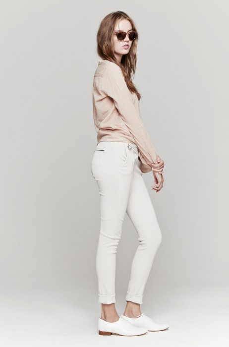 A.L.C. Daniel Leather Pant In White | The Dreslyn