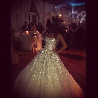 dress long dress ball gown ball gown dress gold glitter