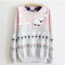 Sheep cute sweatshirt - 2 colors - warm winter luxury and elegant | awesome world - online store
