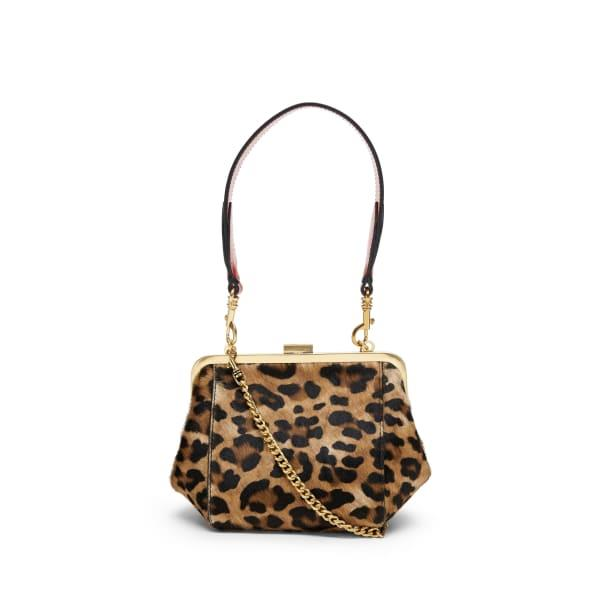 Banana Republic Women's Haircalf Leather Frame Bag Leopard Print Haircalf Leather Regular Size One Size