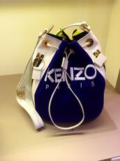 bag,kenzo,urban,gold,blue,blue bag