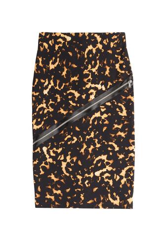 skirt pencil skirt zip cotton animal
