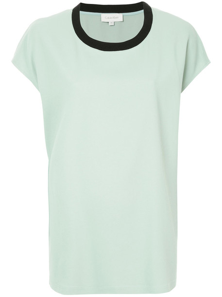Ck Calvin Klein top women spandex green