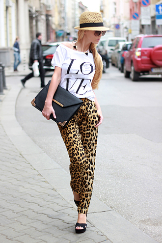 sirma markova pants t-shirt jewels shoes hat bag sunglasses