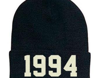 1994 Beanie, 1994 winter beanie, stitched beanie, justin bieber style beanie