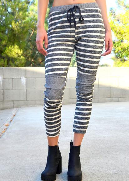 pants grey sweatpants striped pants joggers joggers sweats jogger sweatpants jogger sweats gray grey sweatpants