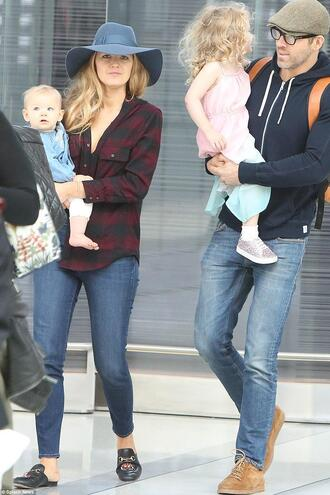 jeans blake lively streetstyle hat shirt