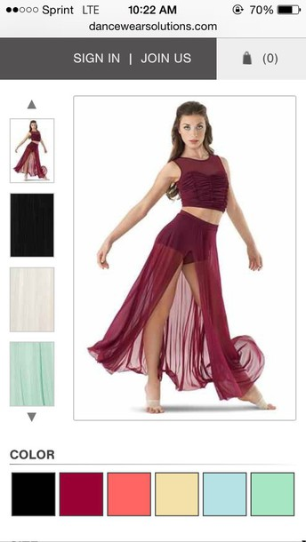skirt dance burgundy high waisted maxi skirt black cherry