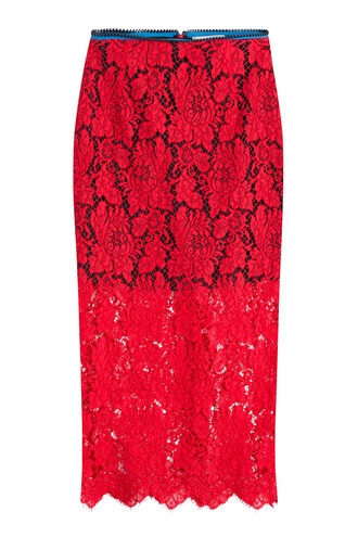 skirt midi skirt midi lace red