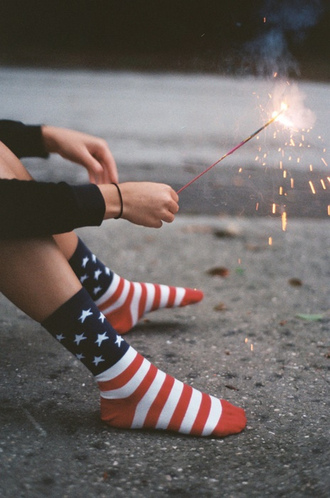 jewels american socks usa socks socks american flag american usa blue red white stars shoes clothes underwear july 4th