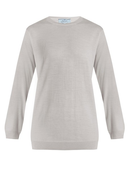 Prada sweater wool sweater wool light blue light blue