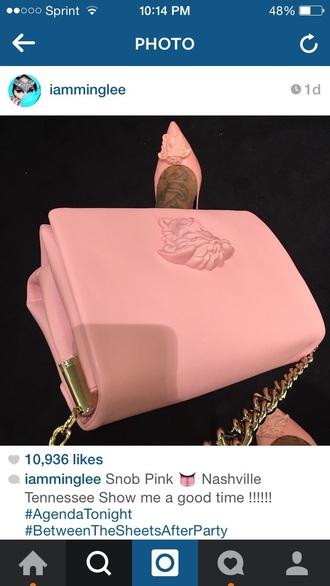 pink bag baby pink high heels