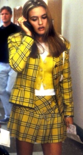 skirt clueless yellow skirt yellow jacket