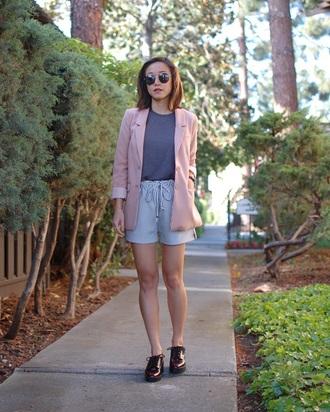 monkeyshines blogger pink jacket striped shorts
