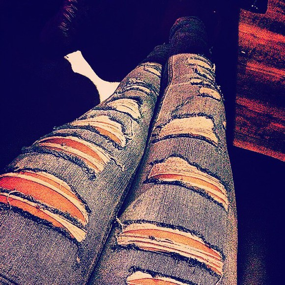 jeans ripped jeans