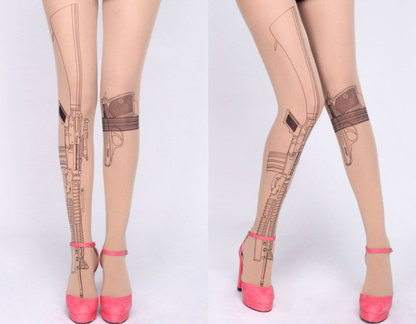 Gun tattoo tights – house of troika