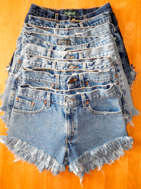 Shorts: frayed shorts, vintage shorts, hipster, denim, jeans ...