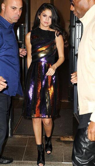 dress gown selena gomez prom dress sequin dress booties