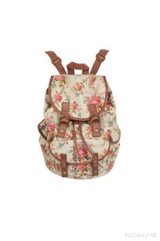 bag white flowers school bag vintage back to school hipster swag style yolo cool style bag bagpack bags for back to school blue floral vintage bag beautiful bags cool bags