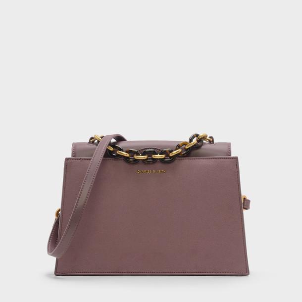 handbag purple bag
