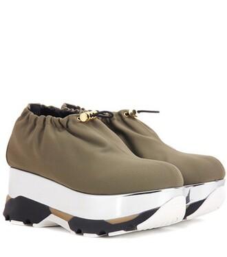 sneakers platform sneakers green shoes