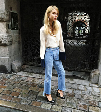 look de pernille blogger cropped jeans
