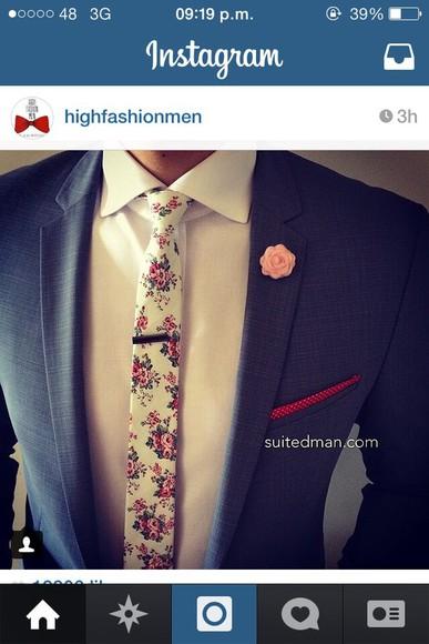 Belt men tie fashion floral