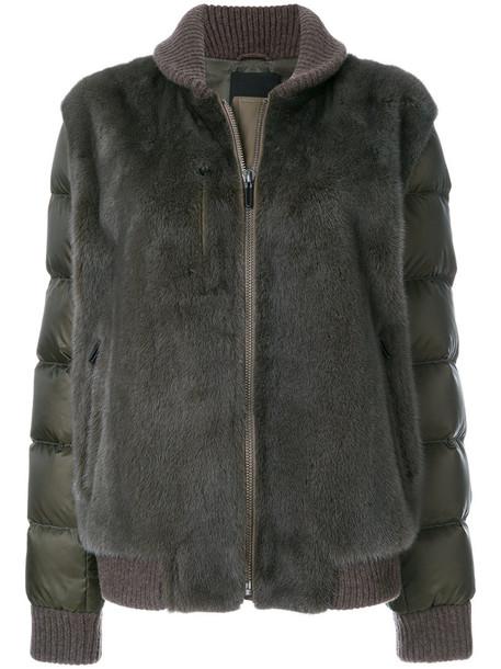 Liska jacket fur women leather wool brown