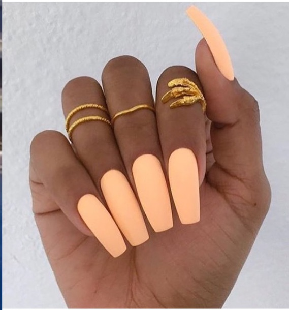 nail polish, mango orange nail polish matt hot - Wheretoget
