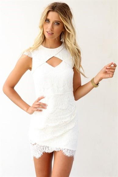 white dress ivory dress lace dress cap sleeves dresses