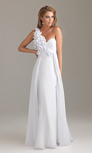 Prom dresses, celebrity dresses, sexy evening gowns at promgirl: one shoulder prom dress 6480 by night moves