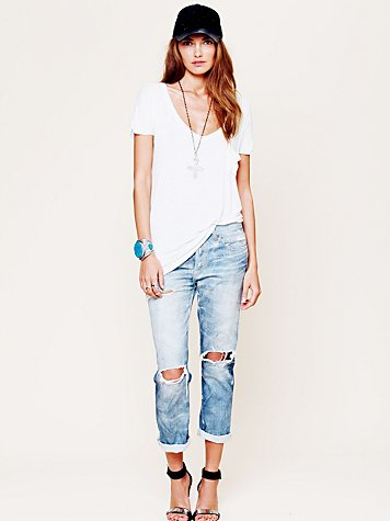 Oil Stained Destroyed Boyfriend Jean at Free People Clothing Boutique
