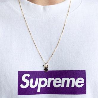 shirt supreme purple t-shirt