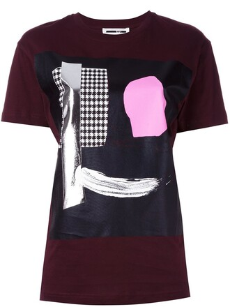 t-shirt shirt print red top