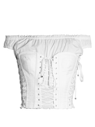 top bustier bustier top cotton white