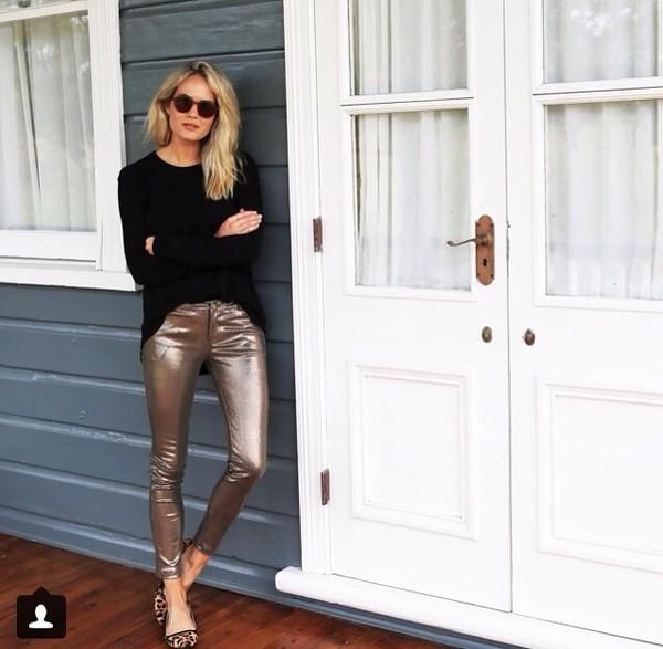 jeans bronze zara leopard print