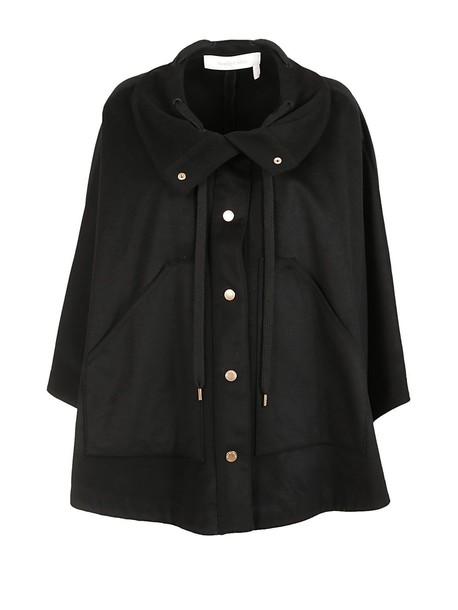 See by Chloe coat oversized black