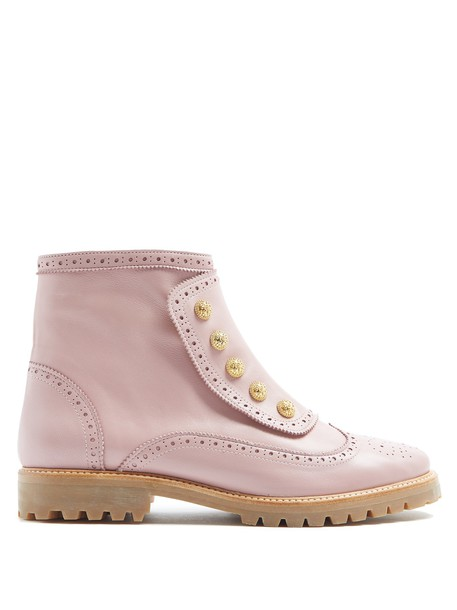 RUE ST. leather ankle boots street ankle boots leather light pink light pink shoes