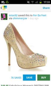 shoes,gold high heels,rhinestones,metallic shoes,pumps,high heels